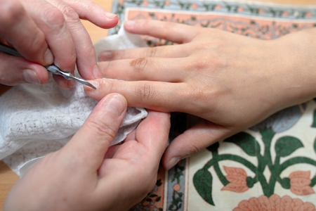 execution: Technical execution of classical manicure