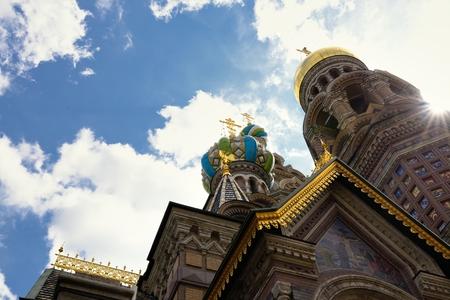 na: Detail of Russia Orthodox Church Spas na Krovi, St. Petersburg Stock Photo