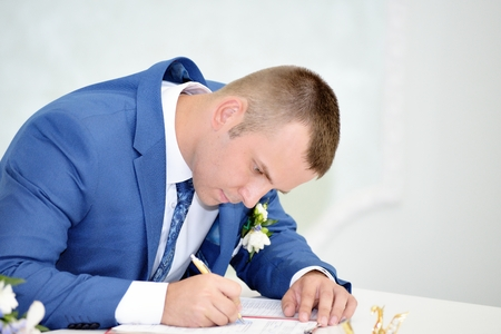 Solemn registration of newlyweds photo