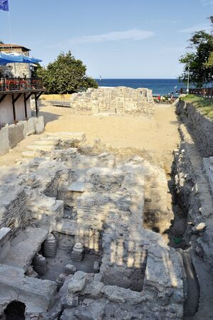 archeologist: Ruins in ancient city of Sozopol in Bulgaria