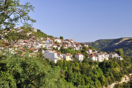 veliko: View from Veliko Tarnovo, medieval town in Bulgaria
