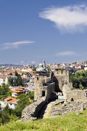 veliko: Tsarevets fortress in Veliko Tarnovo, Bulgaria