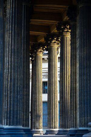 Columns of the Kazan Cathedral in Saint-Petersburg