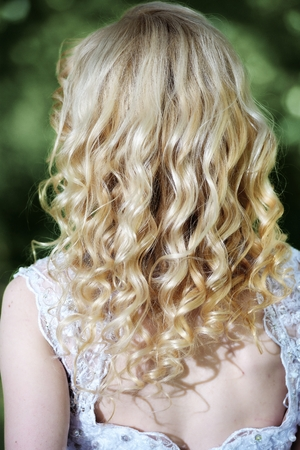 platinum hair: Beauty wedding hairstyle