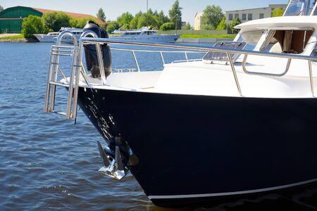 stern: Boat stern Stock Photo