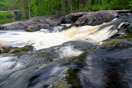 raging: Milky glacial raging river water