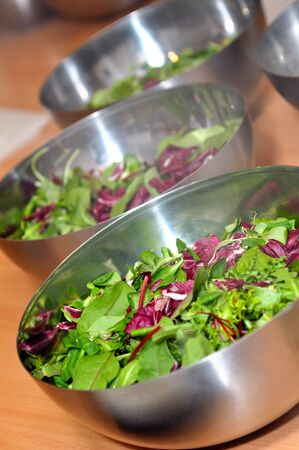 the greens: Salad with vegetables and greens