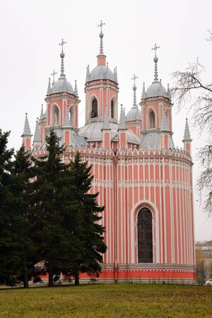 russian orthodox: Chesme Church is small Russian Orthodox church in Saint Petersburg, Russia Stock Photo