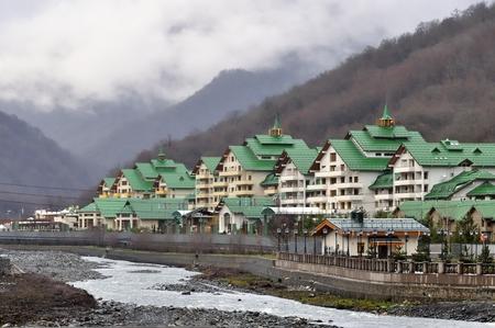 Cottage settlement in Krasnaya Polyana, Sochi, Russia