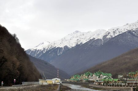 settlement: Cottage settlement in Krasnaya Polyana, Sochi, Russia