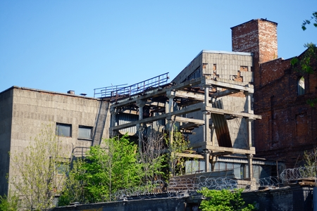 ruination: The destroyed and abandoned building