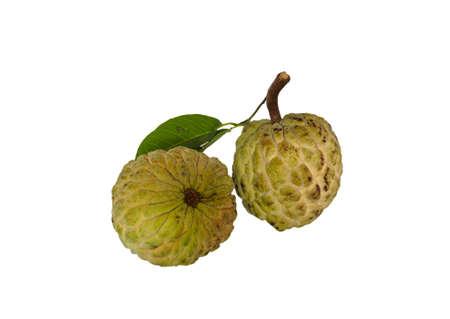 anona: The custard apple is fruit on white background.