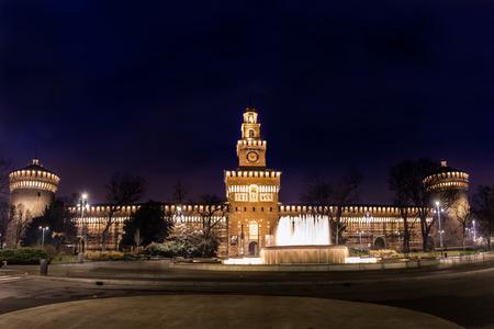 Castello Sforzesco, Milan Stock Photo