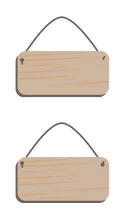 Empty wooden plaques for text. Vector stock. Stockfoto - 146576110