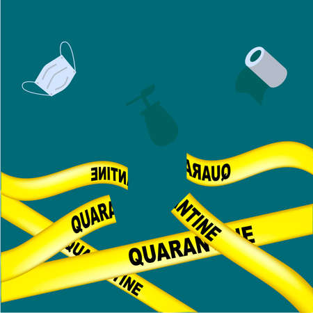 Banner for the end of the quarantine on the topic of coronovirus, Quarantine is over. pandevic end. end the lockdown. COVID-2019, cut yellow quarantine tapes. Vector