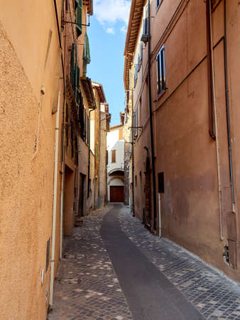 Italy Foligno streets of the old medieval city