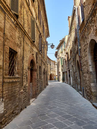 italian fountain: Bevagna streets and houses old medieval city