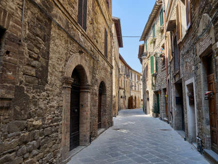 Bevagna streets and houses old medieval city