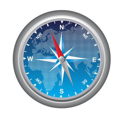 Vector illustratie van een kompas geïsoleerd op wit