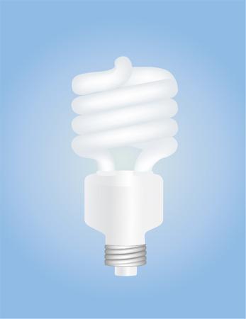vector illustration of a fluorescent twisted light bulb Illusztráció