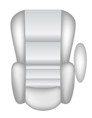 airbag: vector illustration of a car seat isolated on white