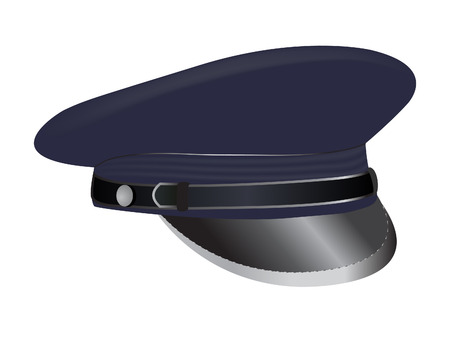 vector  illustration of a military cap isolated on white