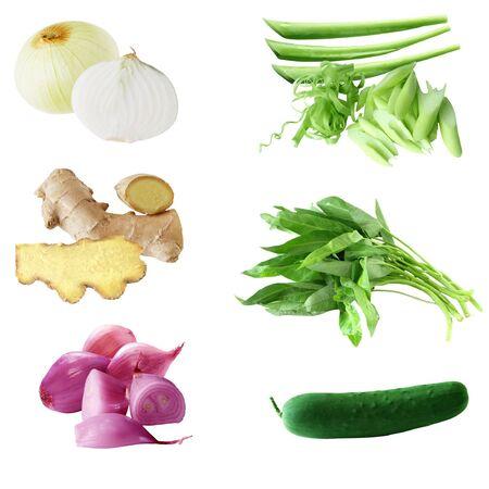 Set di vegetabe isolato su sfondo bianco Archivio Fotografico - 4243953