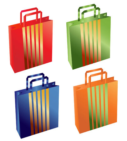 vector of a colorful shopping bags set Vector