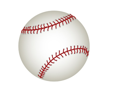 stitch: vector of a baseball isolated on white