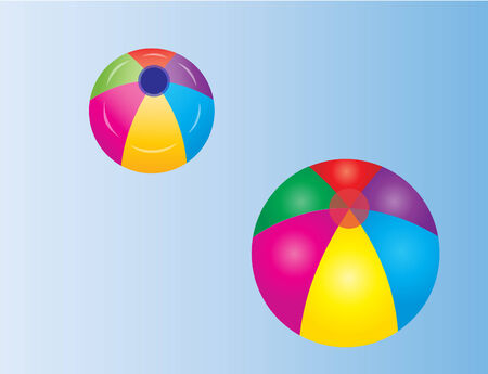 inflatable ball: Vector of a colorful beach ball