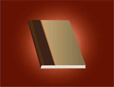 Vector of a red dairy book Illusztráció