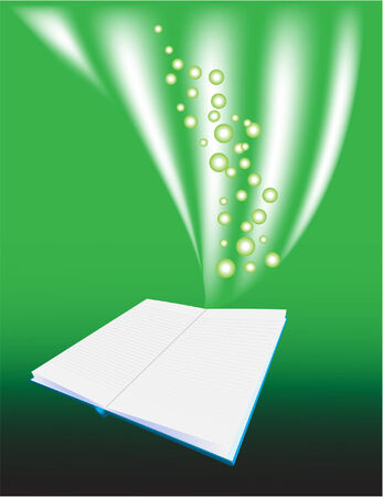 Vector of a green magic book  Vector