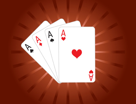 Vector of four aces poker cards Vector