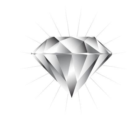 scintillate: ilustraci�n vectorial de un archivo puro diamante Vectores