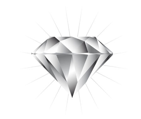 vector illustration file of a pure diamond Ilustração
