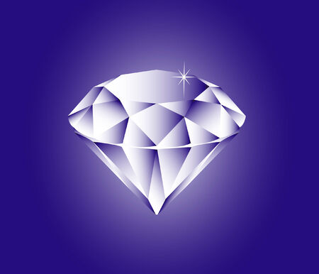 vector illustration file of a sparkling diamond Illustration