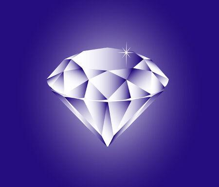 caustic: vector illustration file of a sparkling diamond Illustration