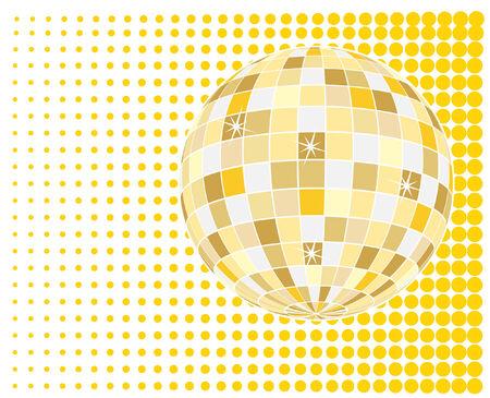 vector  of sparkling golden disco ball  Stock Vector - 4237096