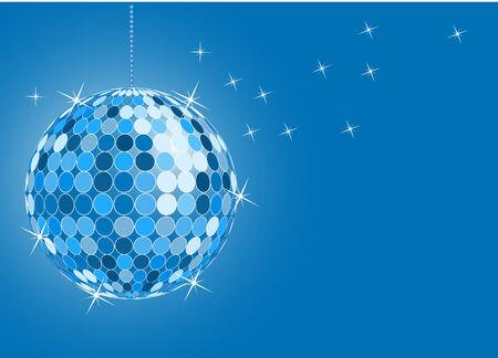 vector of shinny blue disco ball