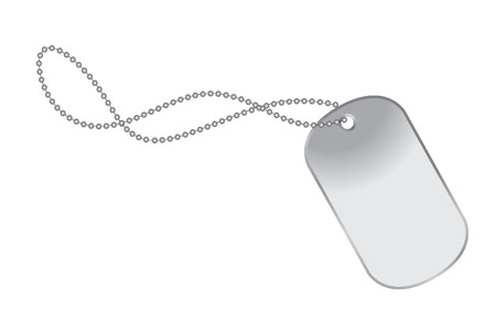 vector illustration file of a dog tag on chain