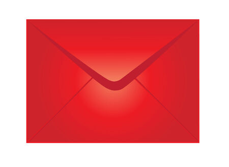 vector illustration of red envelope isolated on white