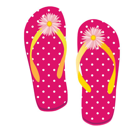 spa resort: vector illustration of a pair of flip flop