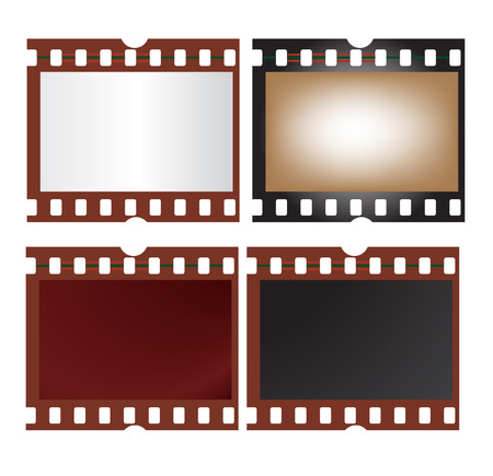 vector illustration of four film frame isolated on white Vector