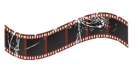 vector illustration of a grungy film strip Vector