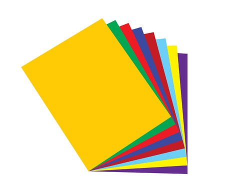 vector illustration of a group of colorful folders Vector