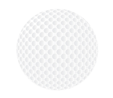 vector  illustration of a single golfball isolated on white Vector