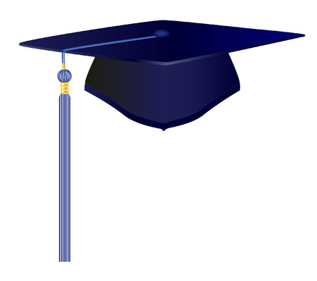 mortar board: vector  illustration file of a graduation cap Illustration
