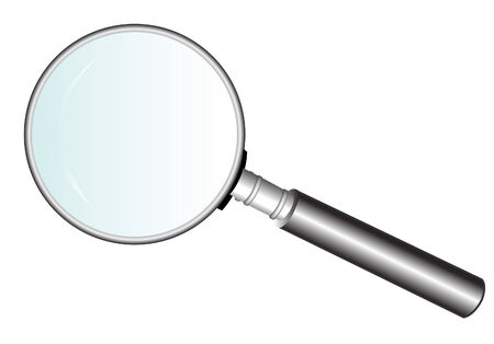 vector  illustration file of a magnifying glass