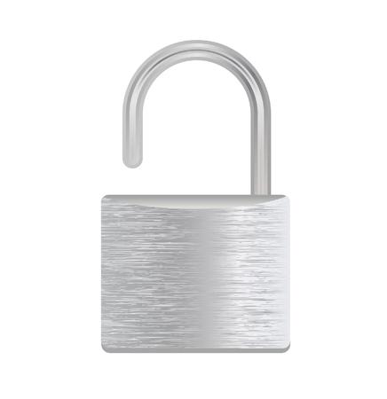 vectorillustratie van een zilveren hangslot geïsoleerd op wit