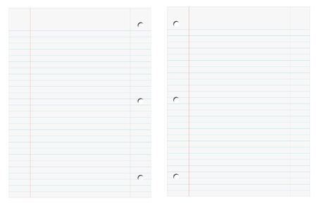 vector illustration of two blank sheets of notebook Vector